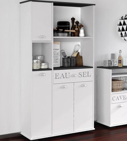 Buffet con 4 puertas y 6 estantes para tu cocina - Muebles auxiliares para cocina ...